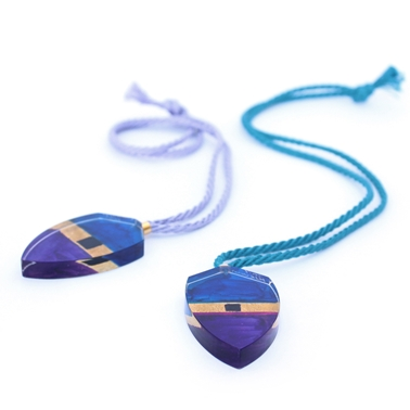 Purple Kite Block Pendants