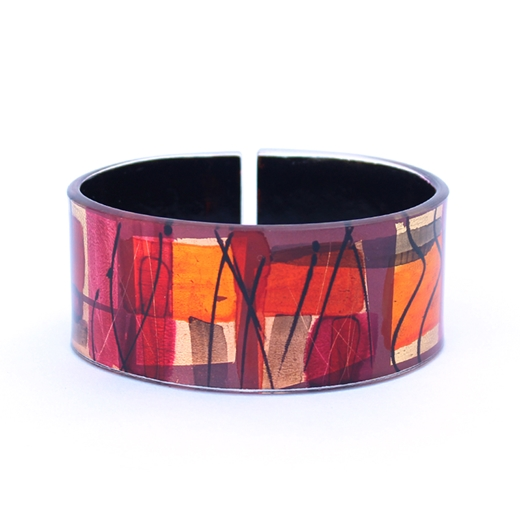 Red Oval Bangle