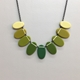 Ombré green ovals necklace