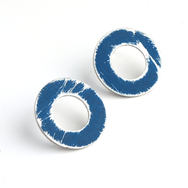 Small Dark Blue Washer Studs