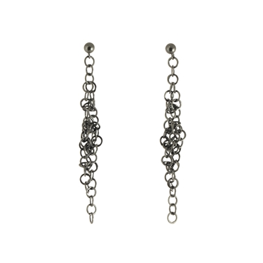 Darrow earrings oxidised silver