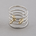 Ripple Sprung Ring Gold