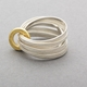 Ripple Multi Ring Gold