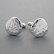 Ripple Pebble Cufflinks