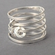 Ripple Sprung Ring Silver