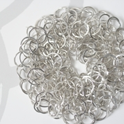 Silver tube chain bracelet, medium loop