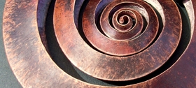 Debbie Long Copper Spiral Pendant