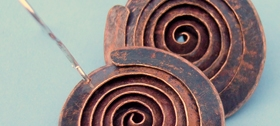 Debbie Long - Spiral Copper earrings