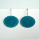 Deep Turquoise oval earrings