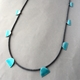 Deep turquoise eight half ovals necklace