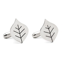Beech leaf cufflinks