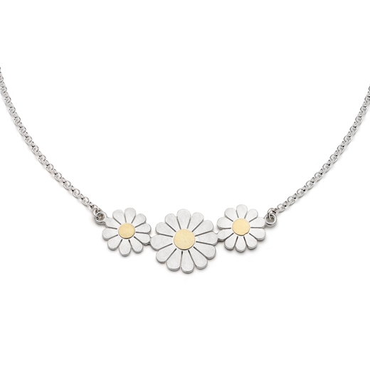 Triple daisy necklace