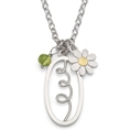 garden charms pendant with daisy