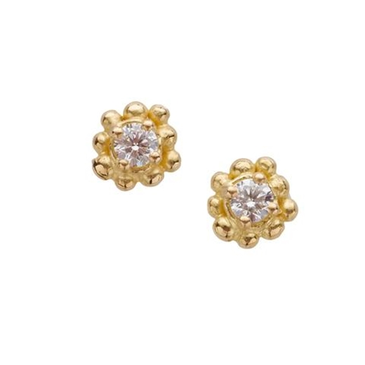Diamond studs front view