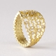 Strata statement ring, diamonds