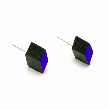Diamond Studs - Black & Blue