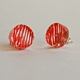 orange disc stud earrings