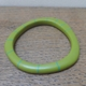 green wangle bangle with turquoise stripes