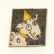 Woof woof dog brooch no.1