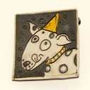 Woof woof dog brooch No.2