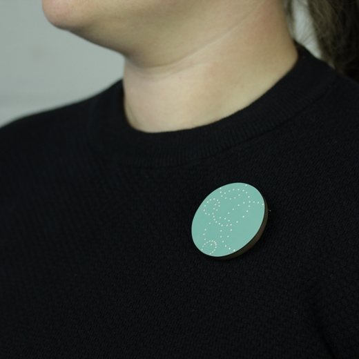 an example being worn