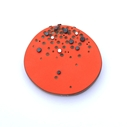 Orange dot brooch
