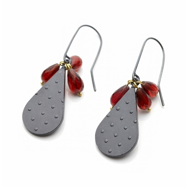 Dotty Drop Cluster Earrings