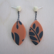 drop fern leaf earrings