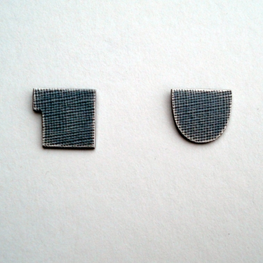 Oxidised cup and jug studs