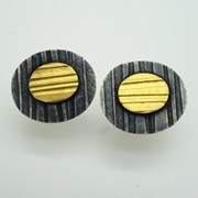 Lines Oval studs