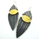 Split Lines Drop Earrings