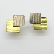 Gold Layered Squares - studs