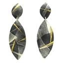 Layered Leaves drop earrings