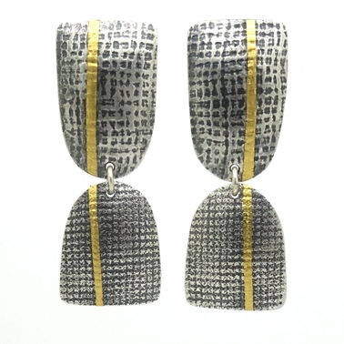 Stripe 2 piece earrings