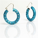 Omega Earrings in Electric Blue