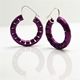 Violet Omega Earrings