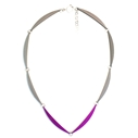 Luna link 8 Necklace in Graphite & Violet
