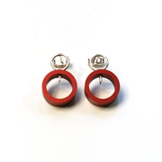 Red Solaris Studs