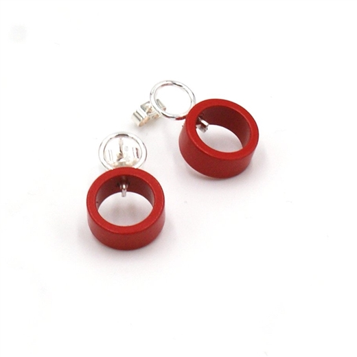 Small Red Solaris Studs