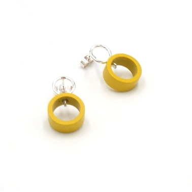 Small Yellow Solaris Studs