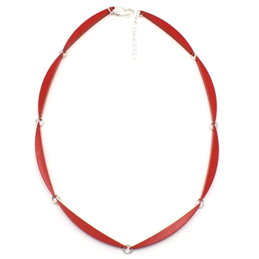Red 8 Link Luna Necklace