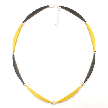 Grey & Yellow 8 Link Luna Necklace