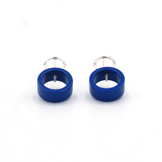 Small Blue Solaris Studs