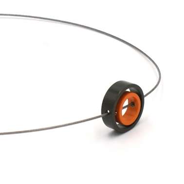 Orange & Grey Double Solaris Pendant