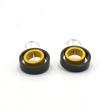 grey & Yellow double Solaris studs