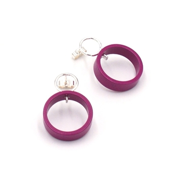 Magenta Medium Solaris studs