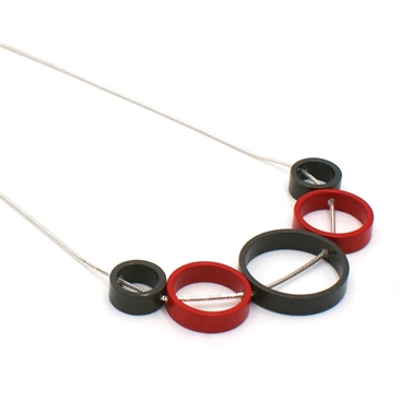 Red & Graphite Solaris 5 Necklace