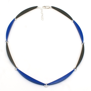 Ultramarine & Graphite Luna Link Necklace