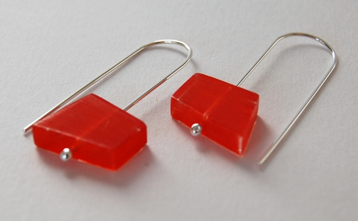 orange fragments earrings 1