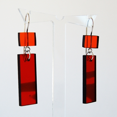 orange and red construction earrings 14
